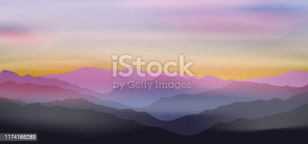 istock Dawn above mountains 1174165283