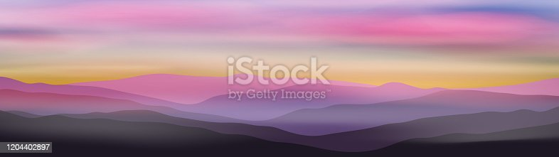 istock Dawn above mountains 1204402897