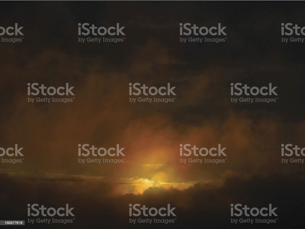 Dawn clouds royalty-free stock vector art