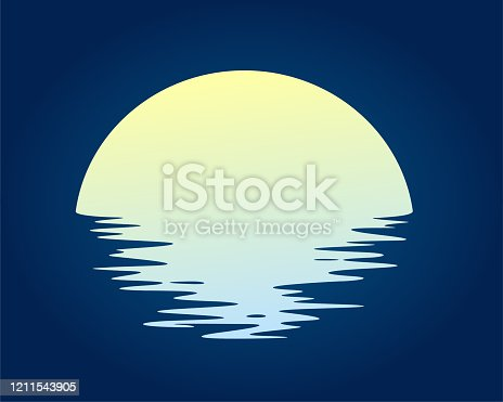 istock Dawn sun in the sea. 1211543905