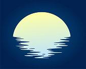 istock Dawn sun in the sea. 1211543905