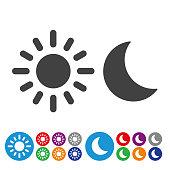 Day, Night, sun, moon, nature, natural phenomenon, weather