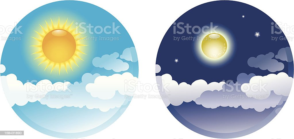 Day and Night royalty-free stock vector art