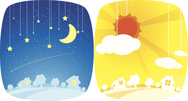 Best Day And Night Illustrations, Royalty-Free Vector ...