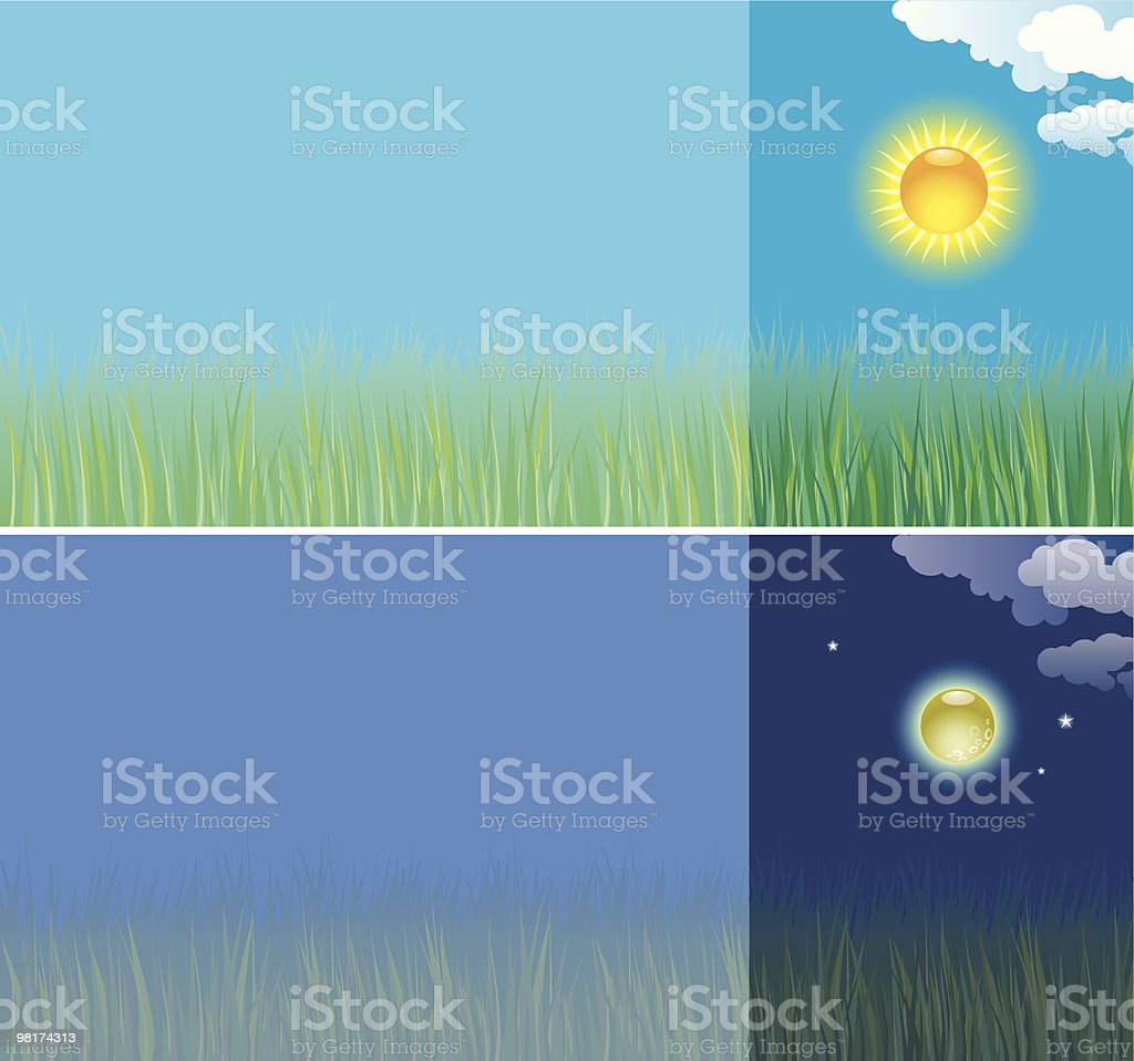 Day and Night royalty-free day and night stock vector art & more images of cloud - sky