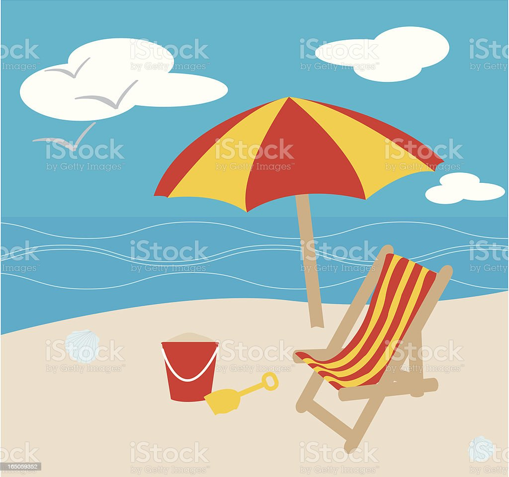 Day at the Beach royalty-free stock vector art