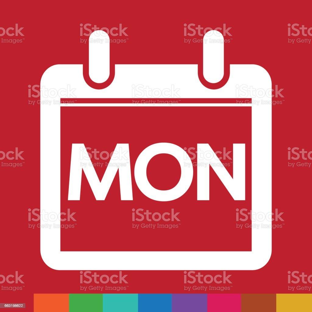 Day Calendar icon illustration sign design style vector art illustration