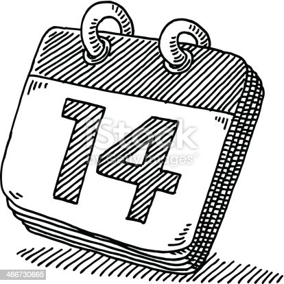 Day Calendar Symbol Drawing Stockvectorkunst En Meer Beelden Van