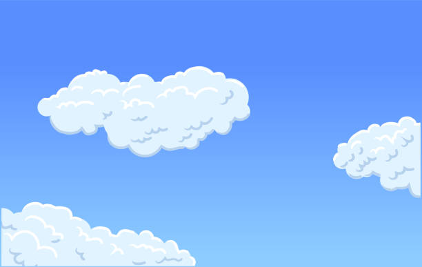 Day clouds vector vector art illustration