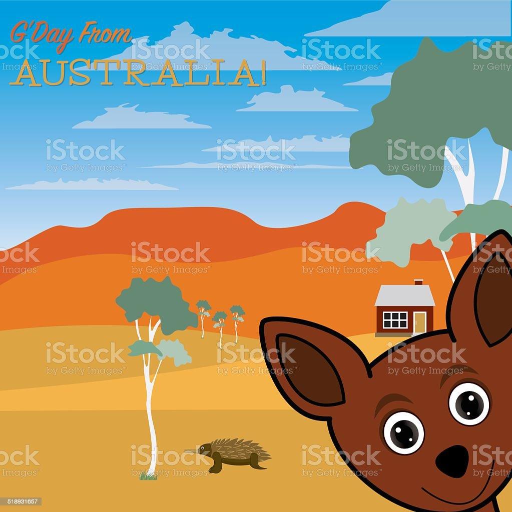 G'Day from Australia vector art illustration