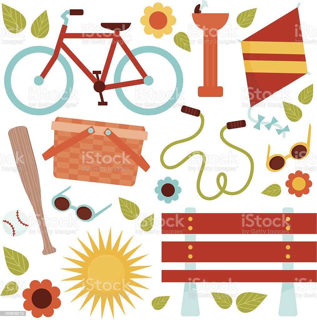 Day in the Park royalty-free stock vector art
