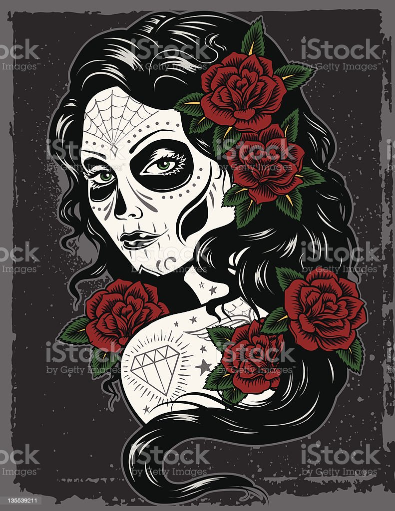 Day Of Dead Girl royalty-free day of dead girl stock vector art & more images of adult