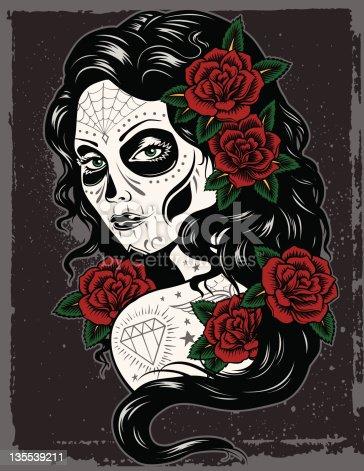 istock Day Of Dead Girl 135539211