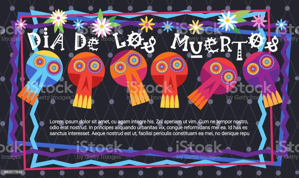 day of dead traditional mexican halloween dia de los muertos holiday party decoration banner invitation royalty