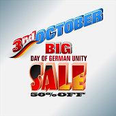 Day of German unity, sales, commercial events