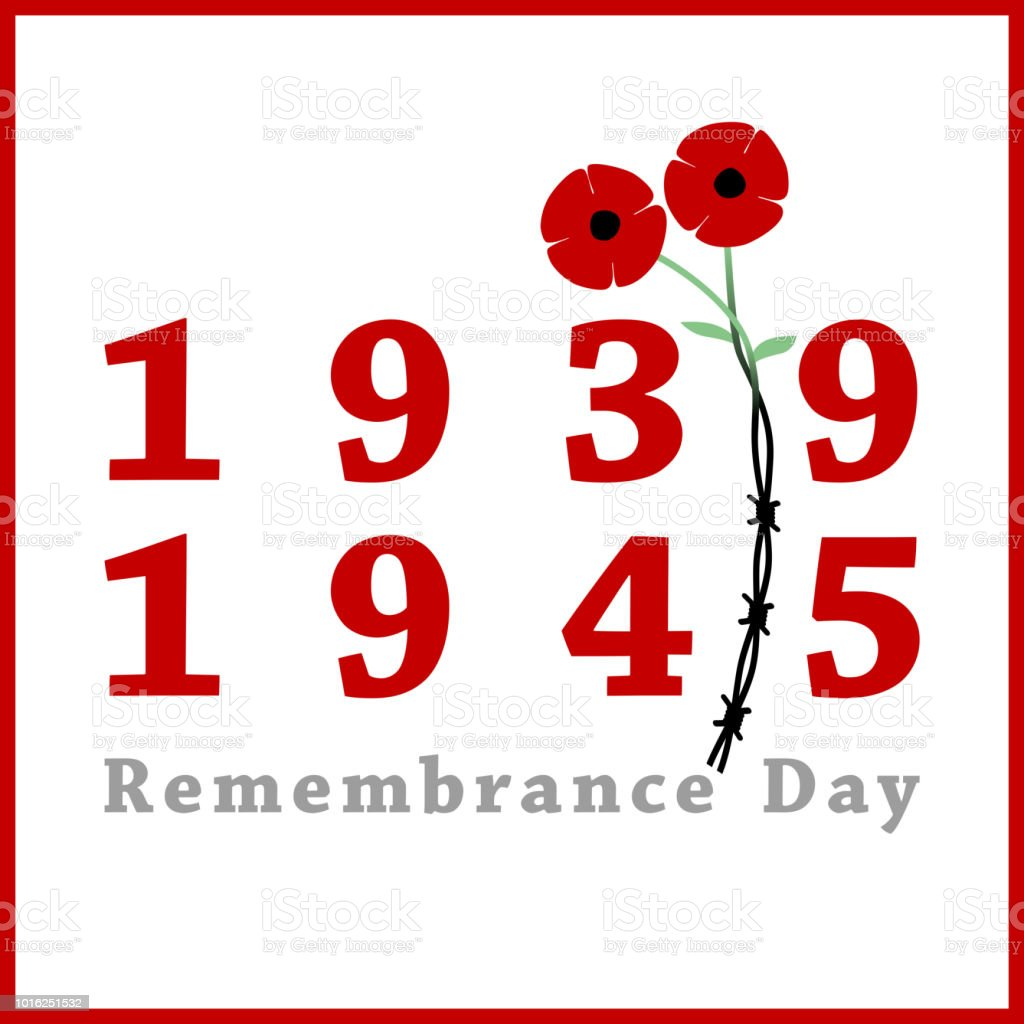 Day Of Remembrance And Reconciliation Red Poppy Flower Commemorative