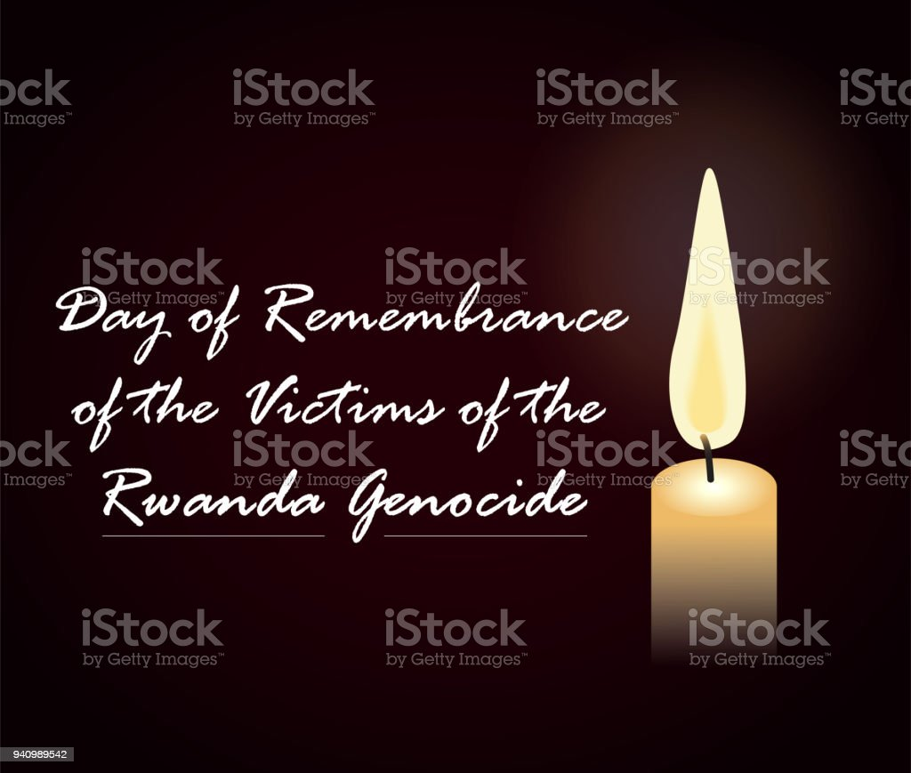day of remembrance of the victims of the Rwanda Genocide vector art illustration