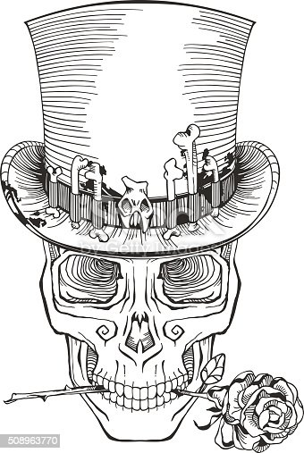 Day Of The Dead Baron Samedi Drawing Stock Vector Art