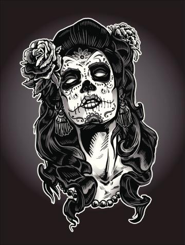 Day of the Dead Calavera Woman