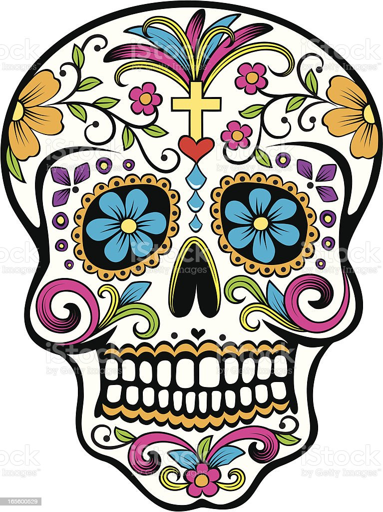 Day of the Dead celebration Sugar Skull vector art illustration
