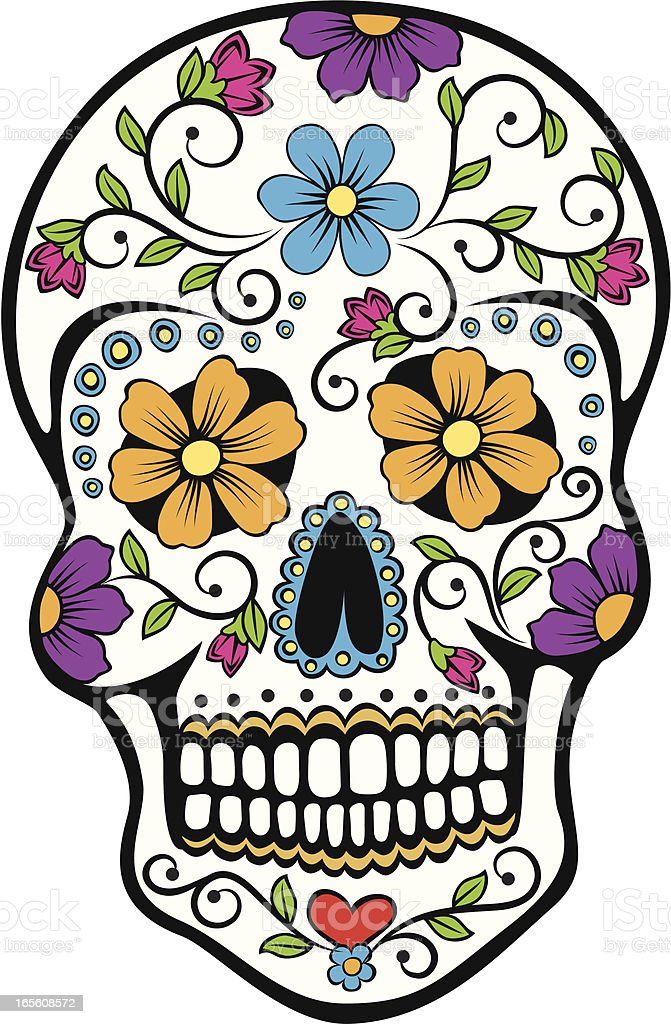 day of the dead celebration sugar skull stock vector art more rh istockphoto com day of the dead vector graphics day of the dead vector download