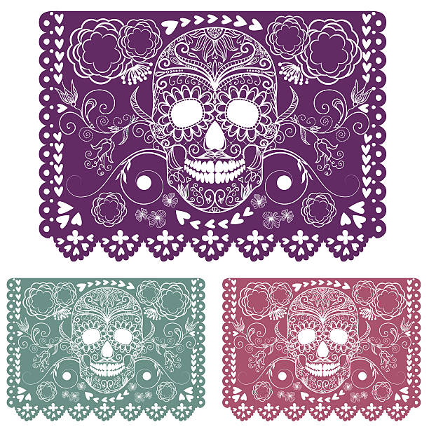 Day of the dead decoration. vector art illustration