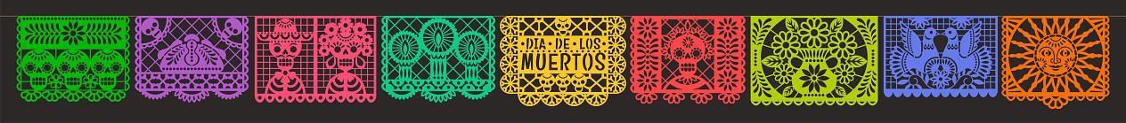 Day of the Dead. Dia de los muetros. Papel Picado.