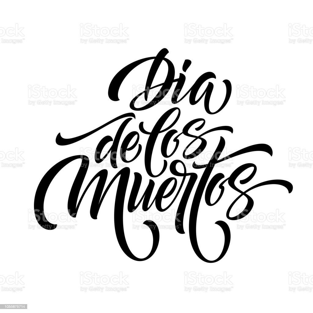 Ilustración de Día De Los Muertos Letras Dia De Los Muertos Para El ...
