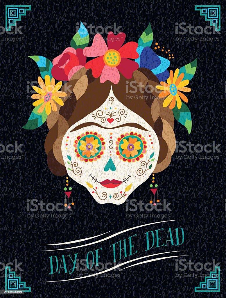 Day of the dead happy catrina illustration design vector art illustration