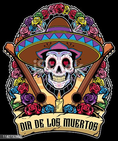 istock Day of the Dead Mascot 1182732805