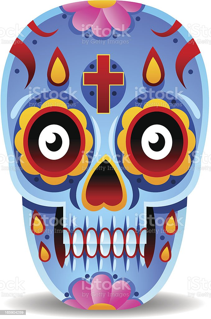 Day of The Dead Mexican Skull royalty-free day of the dead mexican skull stock vector art & more images of anatomy