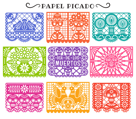Day of the Dead. Papel Picado.