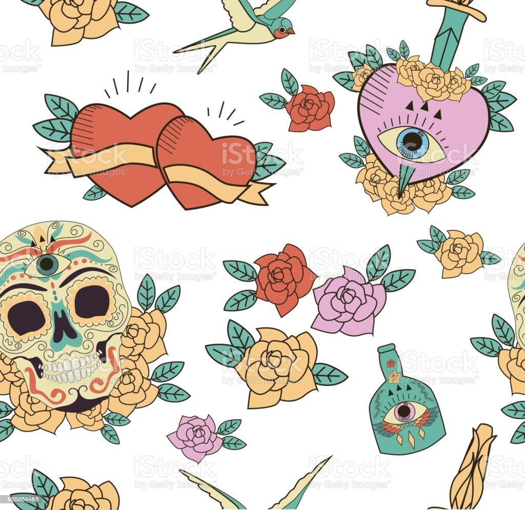 Tag der Toten Muster – Vektorgrafik