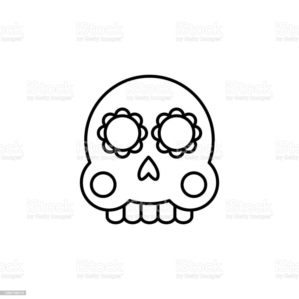 Ilustración De Día Del Muerto Icono De La Calavera Elemento Del Día