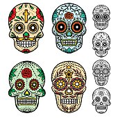 Day of the dead skulls