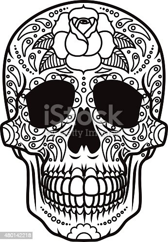 istock Day of the Dead Sugar Skull Icon Calavera 480142218