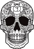 istock Day of the Dead Sugar Skull Icon Calavera 480142218