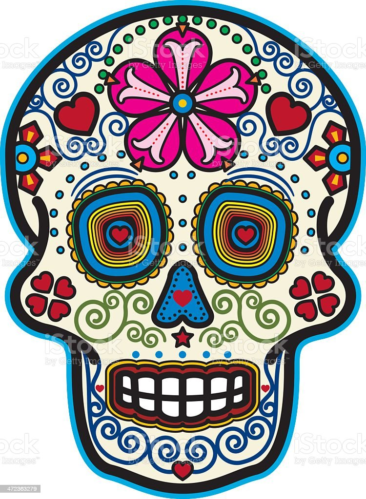 day of the dead sugar skull stock vector art more images of rh istockphoto com day of the dead vector art free day of the dead vector download