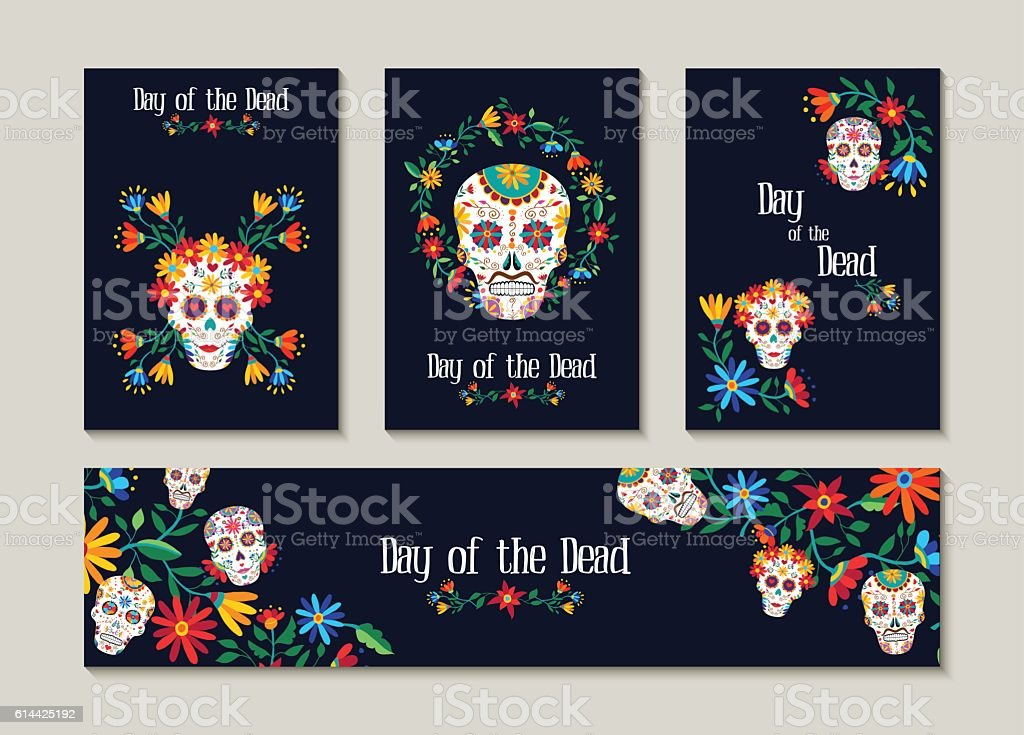 royalty free day of the dead clip art vector images illustrations rh istockphoto com day of the dead skull clipart day of the dead clip art black and white free