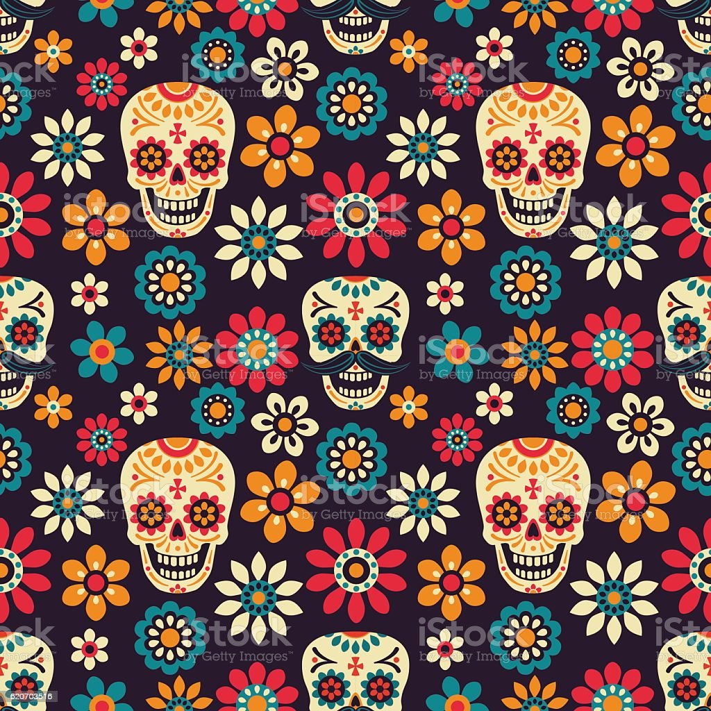 Day of the Dead vector art illustration