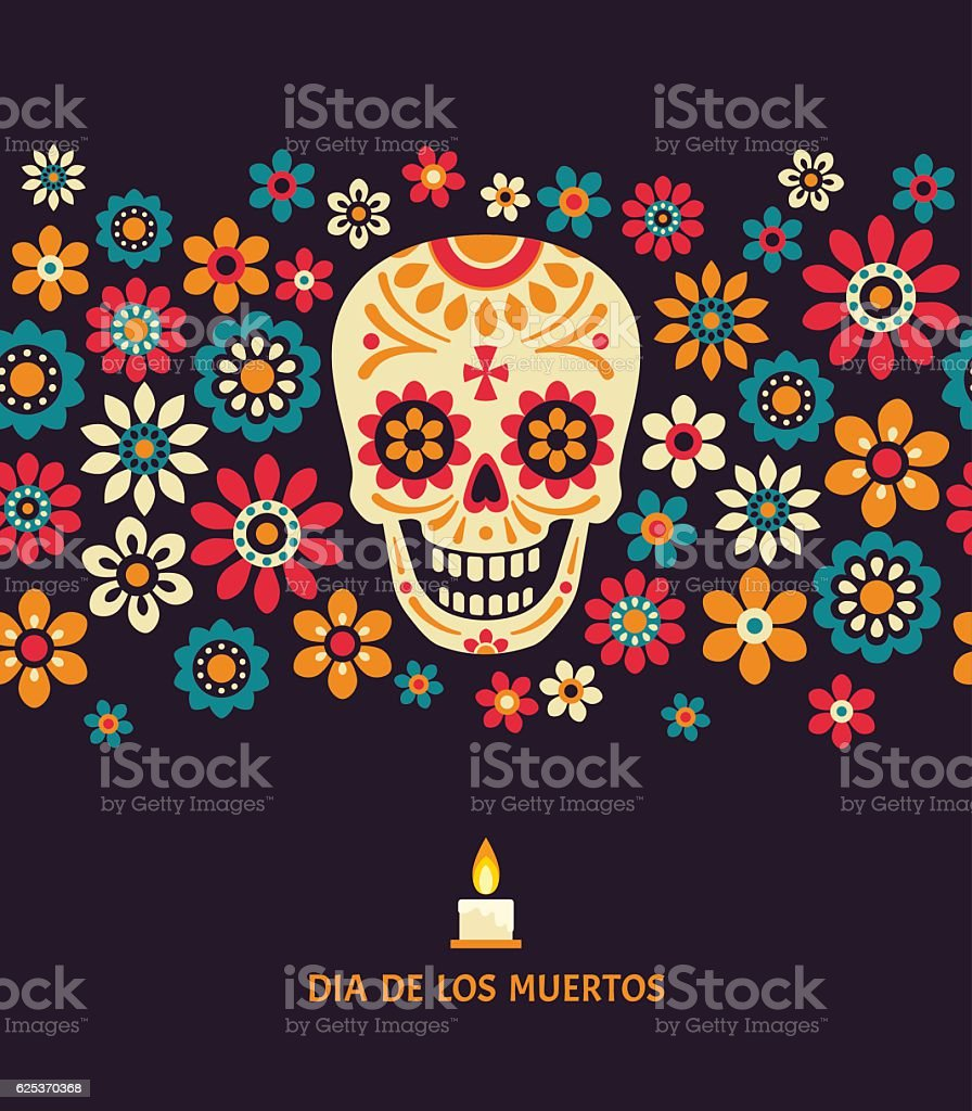 Dia de los muertos. vector art illustration