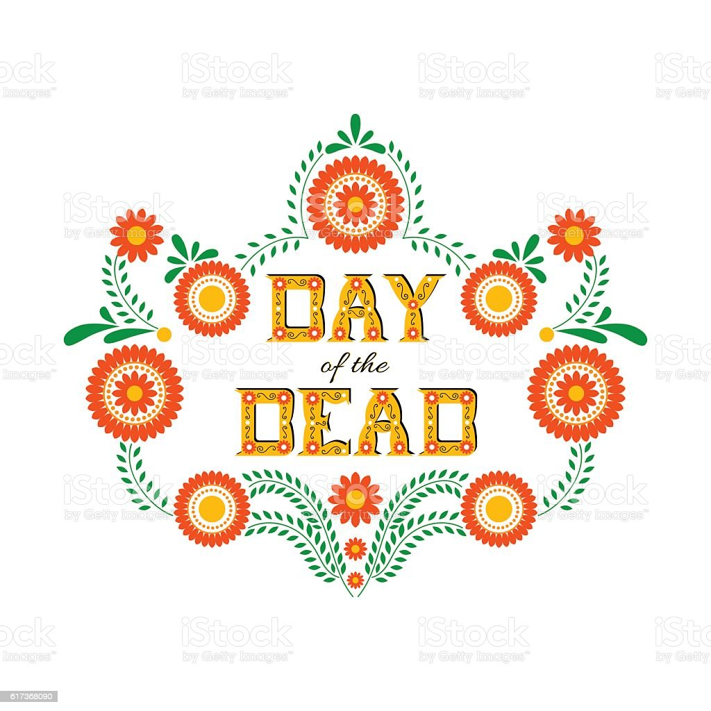 Day of the dead vector illustration poster vector art illustration