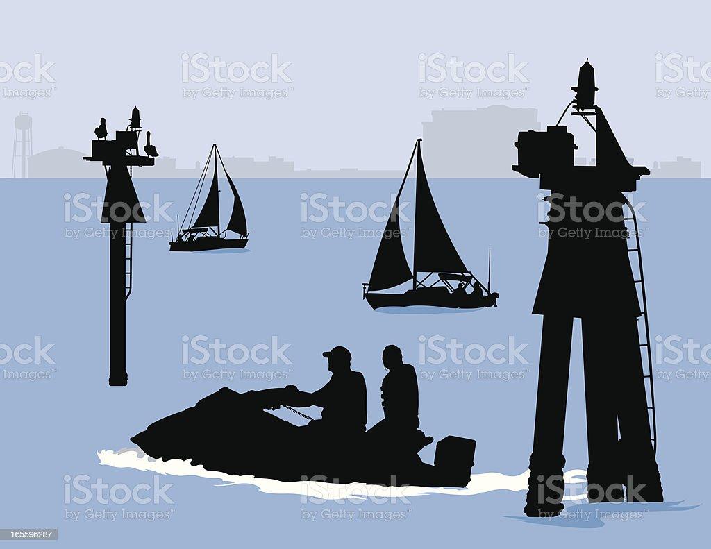 Día en la bahía ilustración de día en la bahía y más banco de imágenes de agua libre de derechos