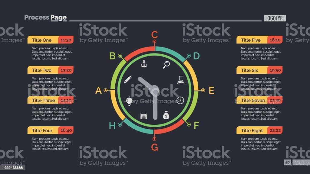 Tagesprogramm Und Uhr Schieben Vorlage Stock Vektor Art und mehr ...