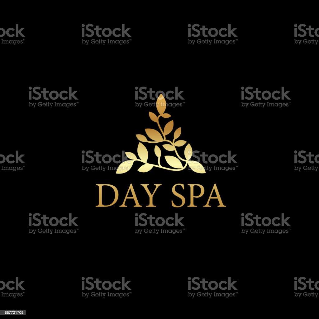 Day spa elegant triangle icon vector vector art illustration