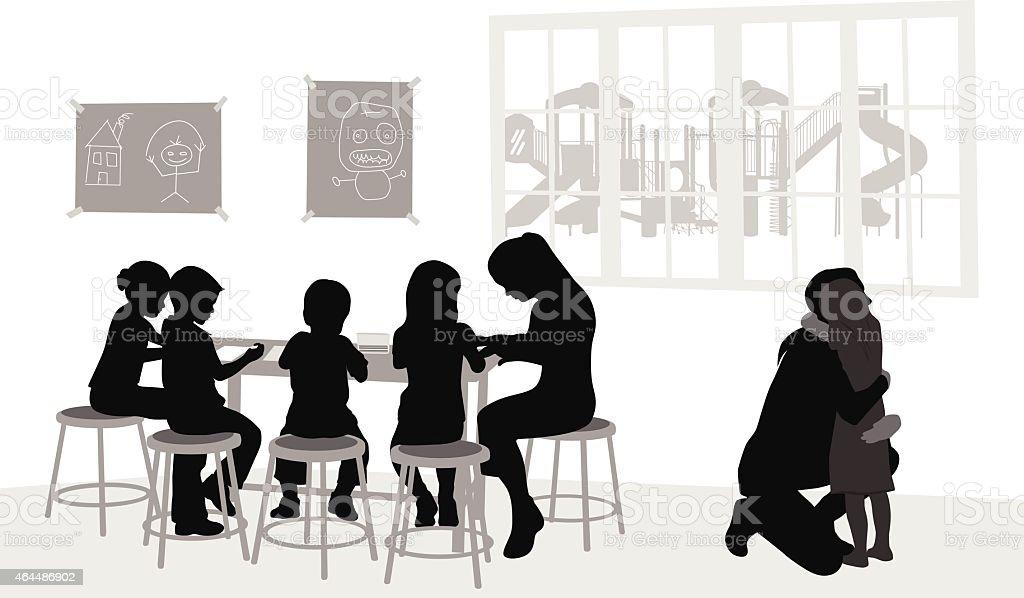 DaycareGoodbye vector art illustration