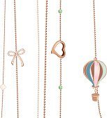 A set of vector jewelry chains - girls day dream