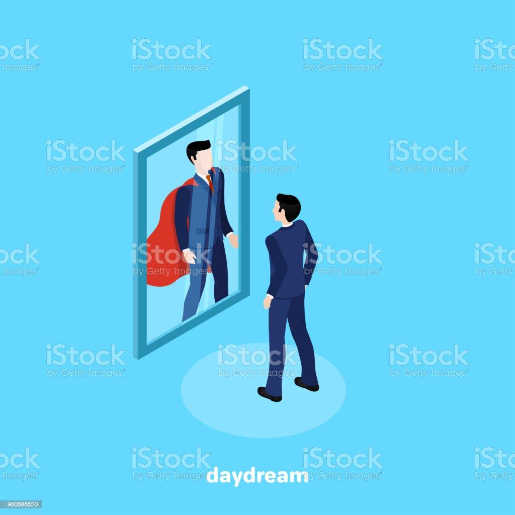 daydream vector art illustration