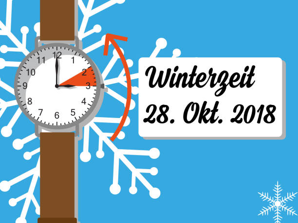 sommerzeit - uhr umstellen - daylight savings time stock illustrations, clip art, cartoons, & icons