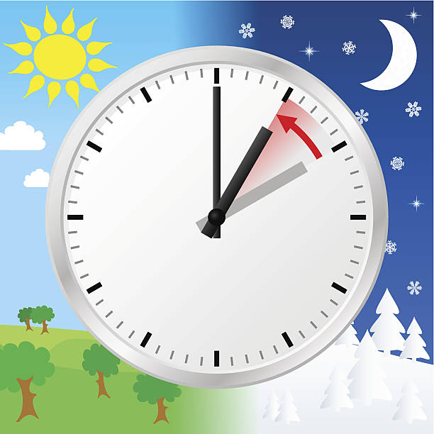 daylight saving time ends - daylight savings time stock illustrations, clip art, cartoons, & icons